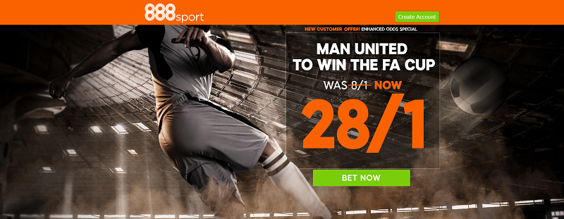 888sport Man United to win FA Cup Offer