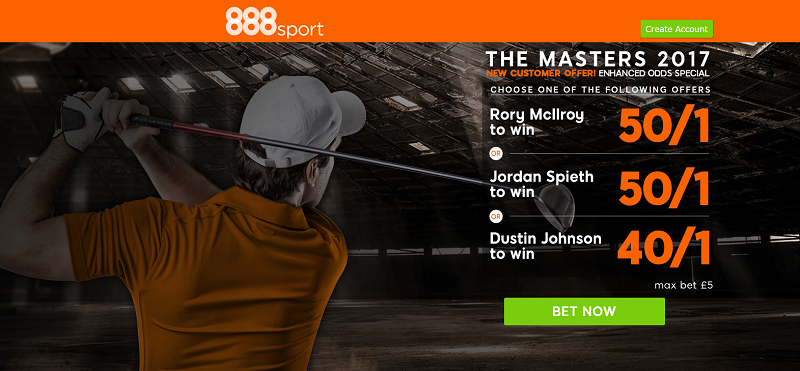 888sport US Masters Offer