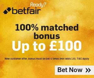 Betfair £100 Deposit Free Bet Bonus