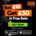 888sport Bet 10 Get 30 Offer 125x125