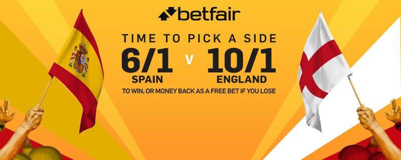 Betfair Spain v England Enhanced Odds Offer 13 November 2015