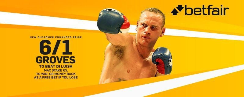 Betfair Boxing Offer George Groves to beat Di Luisa at 6/1