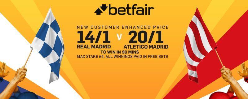 Betfair Champions League final enhanced odds offer