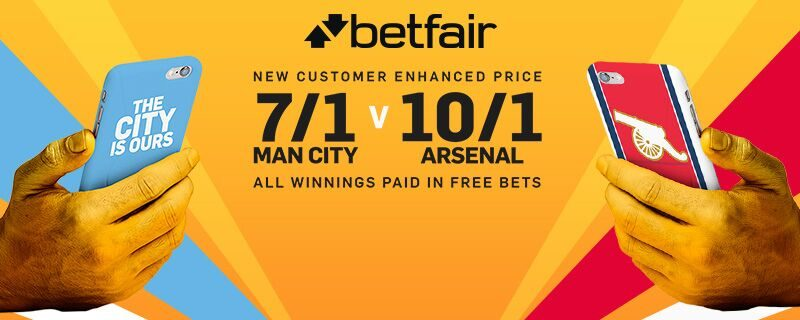 Man City v Arsenal betting tips odds offers free bets
