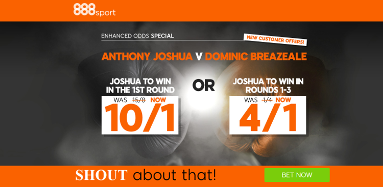 888sport Anthony Joshua Boxing Enhanced Odds Offer