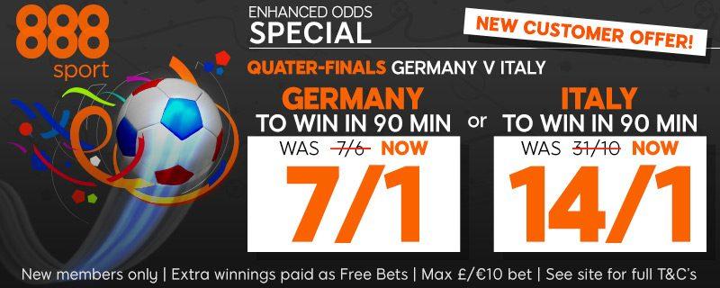 germany vs italy betting odds