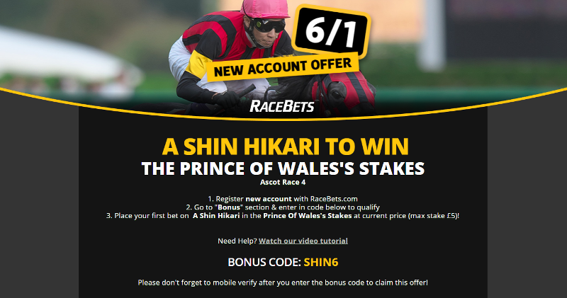 A Shin Hikari enhanced odds betting offers Royal Ascot