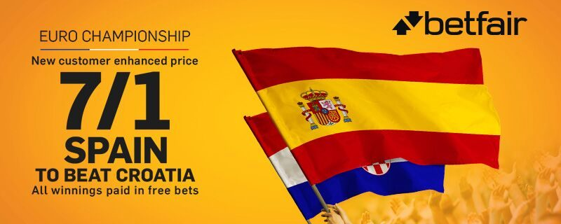 Betfair 7/1 Spain to Beat Croatia Euro 2016 Offer