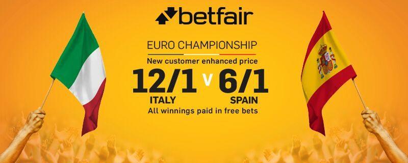 Betfair Italy v Spain Euro 2016 Betting Offer