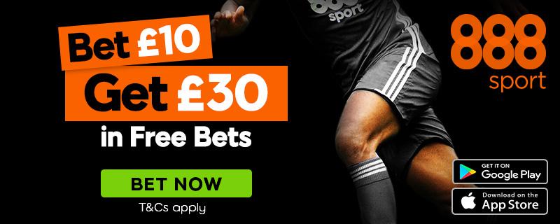 888sport Bet 10 Get 30 Offer 800x320