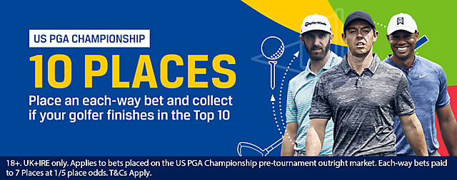 Coral USPGA 10 Places Enhanced Each Way 2019