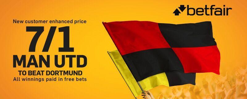 Man United 7/1 Betfair Enhanced Odds Betting Offer
