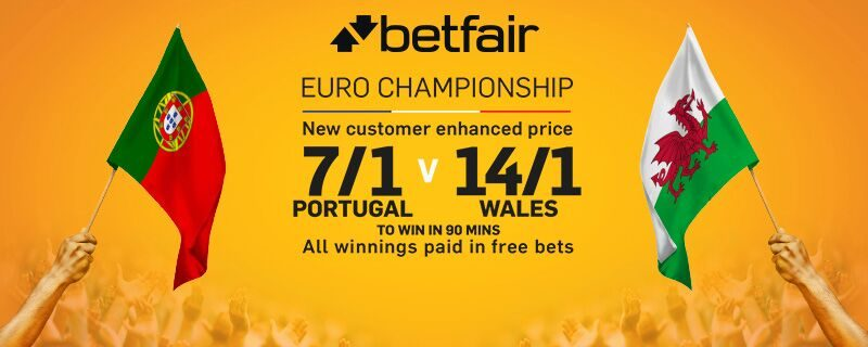 Portugal v Wales enhanced odds Betfair betting offer