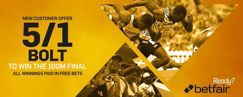 Betfair Usain Bolt Offer: 5/1 Bolt to Win the Olympic 100m ...