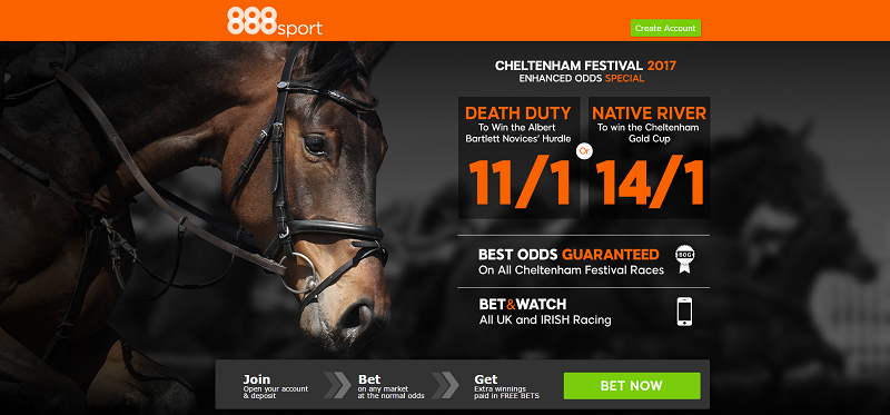 888sport 14/1 Native River to win Cheltenham Gold Cup 2017