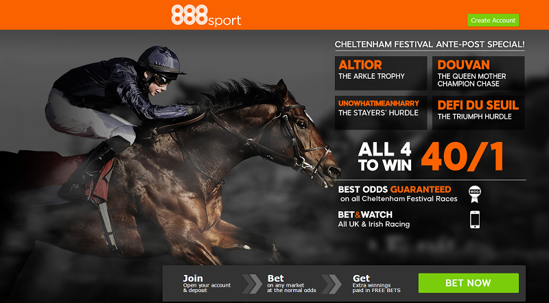888sport 40/1 Cheltenham acca offer