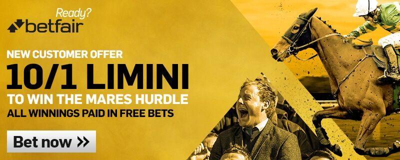 Limini 10/1 Betfair Offer Mares Hurdle