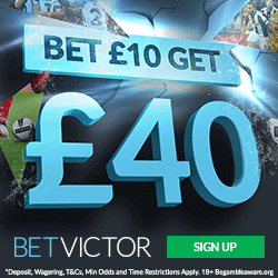 BetVictor Bet £10, Get £40 Bonus Offer