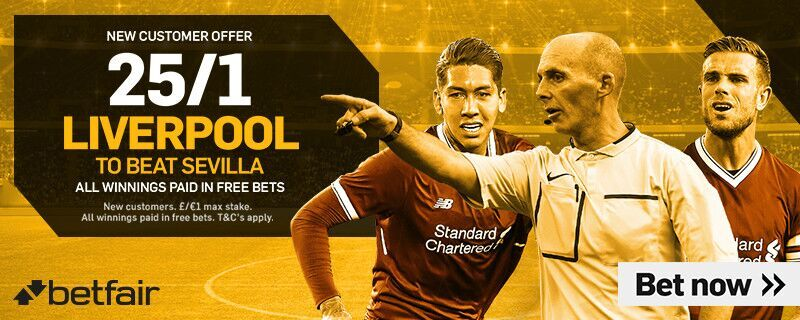Liverpool 25/1 Betfair Sevilla Offer