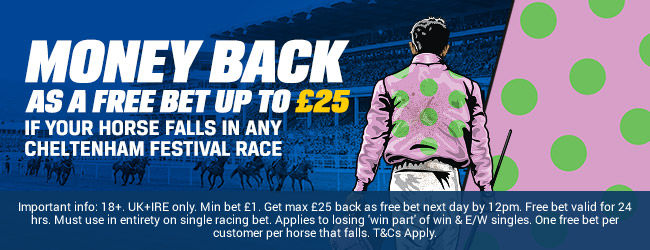 Coral Money Back on Fallers Cheltenham 2018
