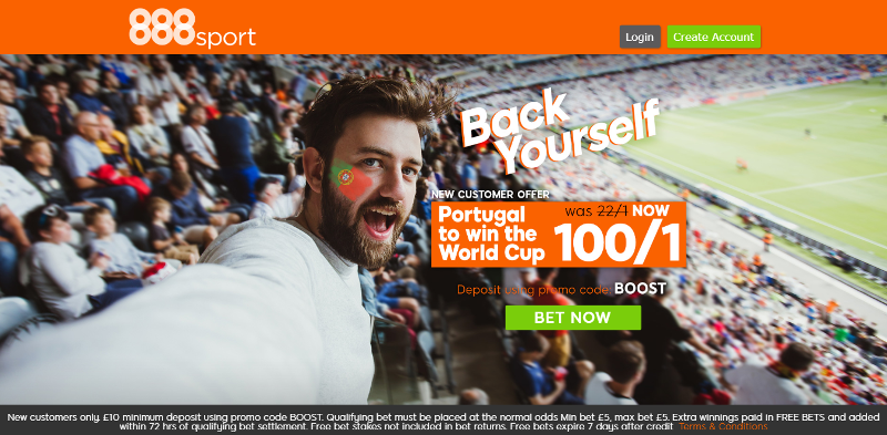 888sport 100/1 Portugal World Cup Offer
