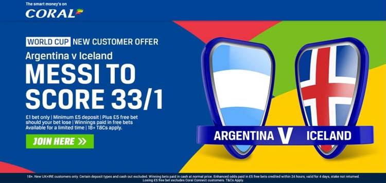 Iceland 100/1 to Beat Argentina 888sport Offer | Messi 33/1 to Score