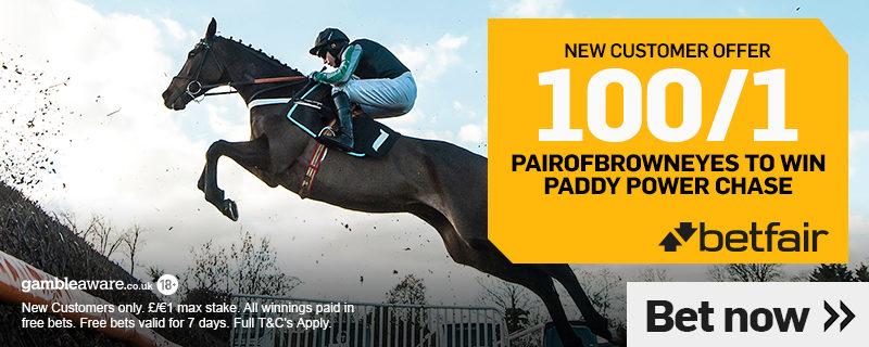 Betfair 100/1 Paddy Power Chase Offer.December 2018