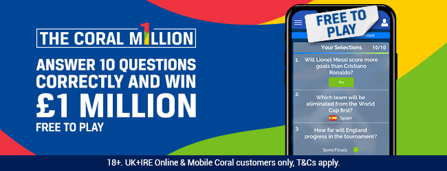 Coral Million Pound World Cup Offer 2018