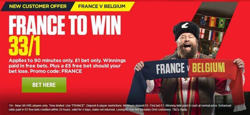 33/1 France Ladbrokes Offer
