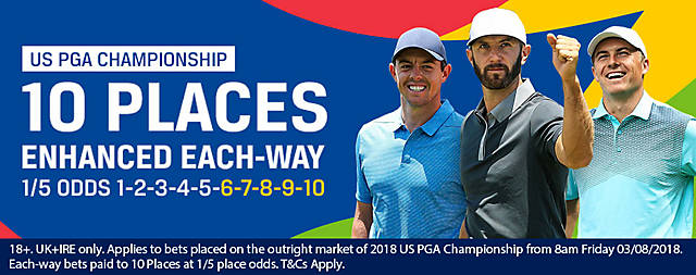 Coral US PGA Championship 10 Places Each Way Offer