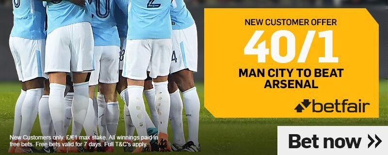 Betfair 40/1 Man City Offer