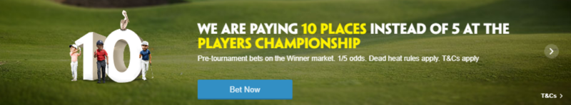 Paddy Power 10 Places Each Way Players Championship Offer