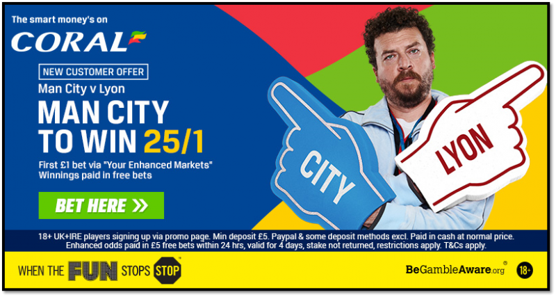 25/1 Man City Coral Offer