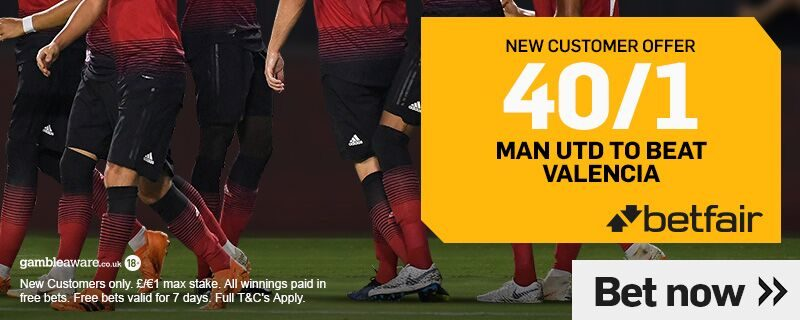 40/1 Betfair Man United Offer