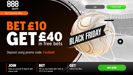 888sport Black Friday Betting Offer 2019