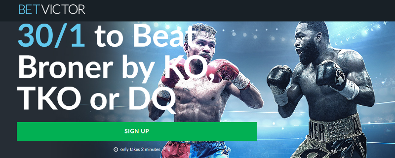 BetVictor 30/1 Manny Pacquiao Offer Jan 2019