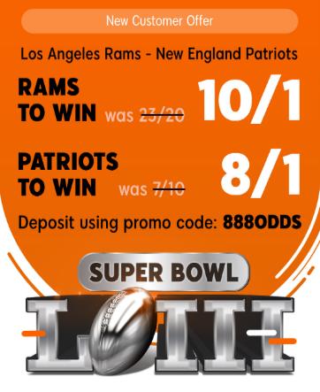 8/1 New England Patriots Offer