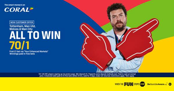 70/1 Coral Acca Offer