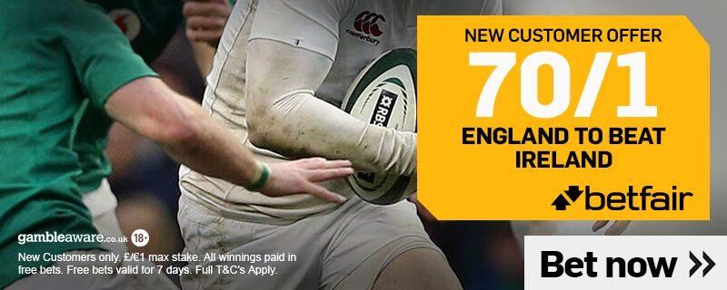 England 70/1 Beat Ireland Betfair Offer