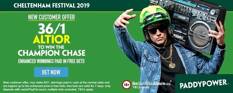 Paddy Power Altior 36/1 Offer Champion Chase 2019