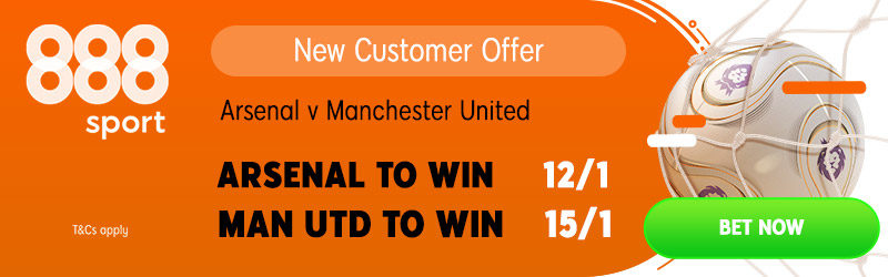 888sport 15/1 Man United offer v Arsenal