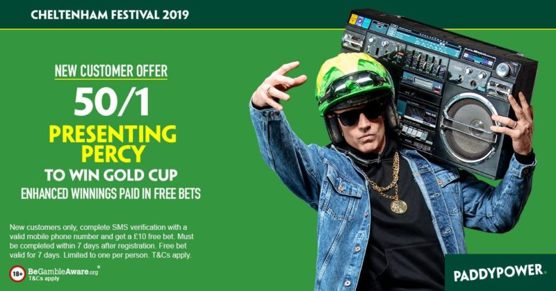 Paddy Power 50/1 Presenting Percy Offer Cheltenham Gold Cup 2019