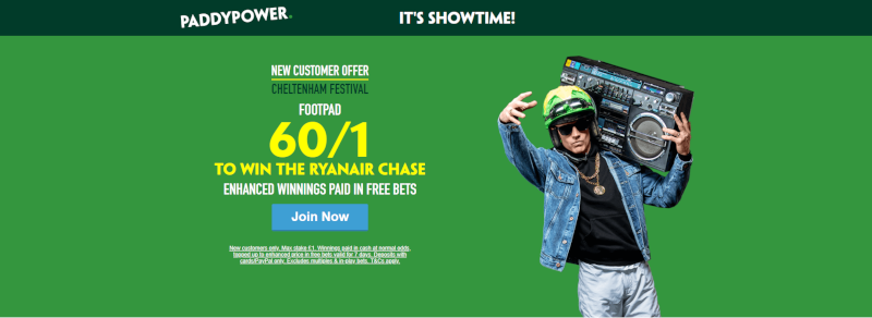 Paddy Power Footpad Ryanair Chase Offer 60/1 to win
