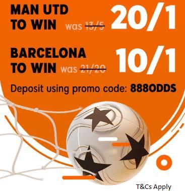 20/1 888sport Man United offer