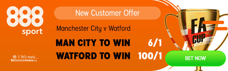 100/1 888sport Watford FA Cup offer