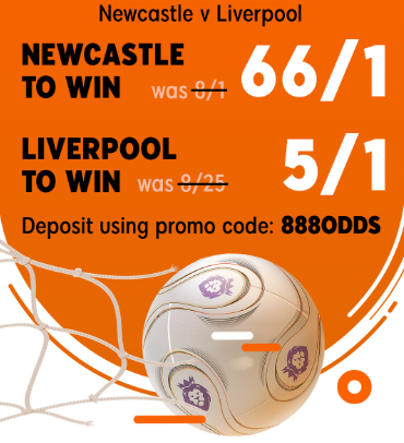 66/1 888sport Newcastle Offer