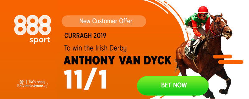 888sport 11/1 Anthony Van Dyck to win Irish Derby Offer