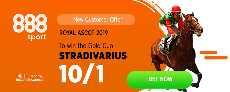 888sport Stradivarius 10/1 to win Gold Cup offer.Royal Ascot 2019