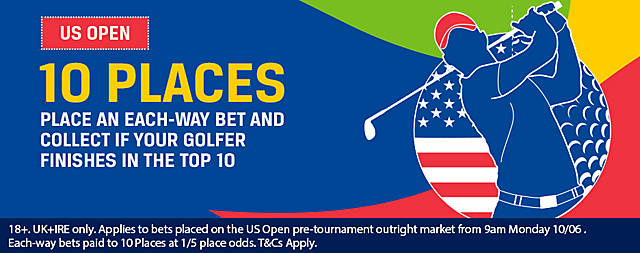 Coral US Open 10 Places Golf Offer.13-16 June 2019