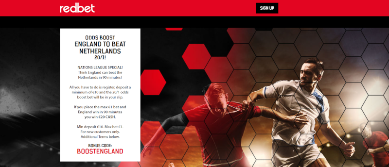 RedBet 20/1 England Offer Nations League 6 June 2019